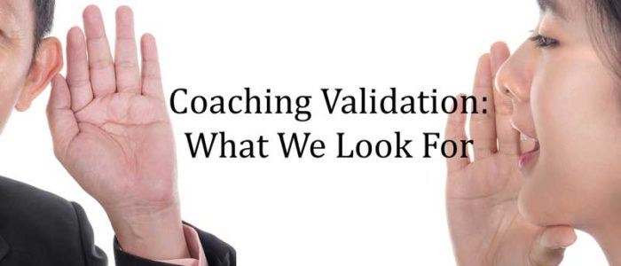 coaching validation